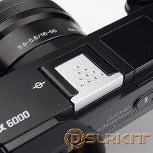 Серебристого Металла Горячая Крышка Башмака для Sony A6000 A3000 A6300 A6500 A7RM2 A77M2 NEX-6 Camera