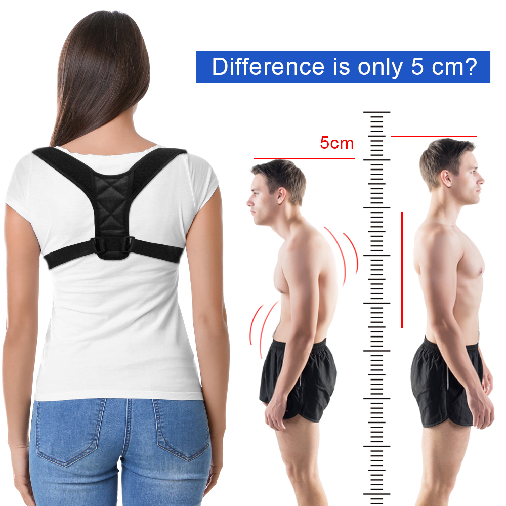 DropShipping Adjustable Back Posture Corrector Clavicle Spine Back ...
