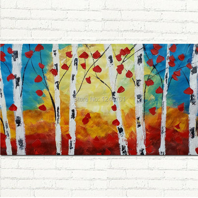 Buy birch tree canvas art and get free shipping on AliExpress.com