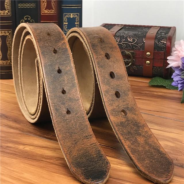Ceintures en cuir pour hommes, sans boucles, bonne qualité, 105 125CM, SP05