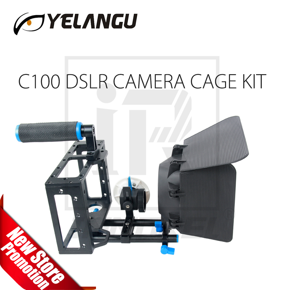 YELANGU C100 DSLR Rig Camera Cage Kit (Including Matter box and Follow focus)