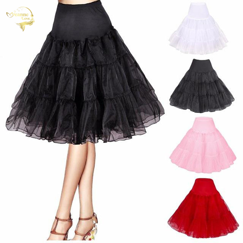 New Hot Sale Short Petticoat For Wedding Vintage Cosplay Petticoat Crinoline Underskirt Rockabilly Tutu Skirt Free Organza Knee