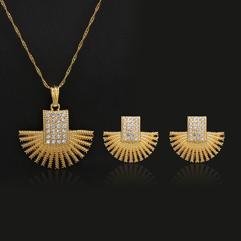 Jewelry Sets Gold Color...