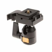 """Moveski MV-001 Professional Tripod Monopod Ball Head 360 Degree 1/4"""" with Quick Release Plate for Canon Nikon DSLR Camera"""