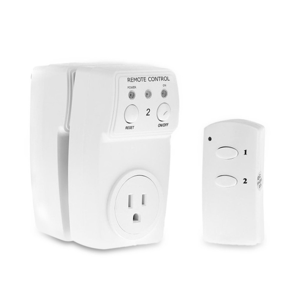 ac power outlet plug switch wireless remote control us. Black Bedroom Furniture Sets. Home Design Ideas