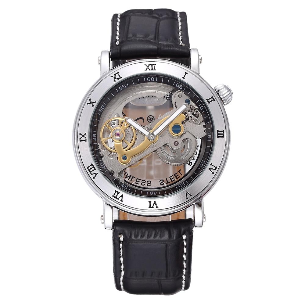 SHENHUA Fashion Casual Heren Horloges Auto Movement Mechanical Men Watch Male Wristwatche Relogio Masculino shenhua 9269d antique bronze skeleton dial steel band men auto wirstwatch montre homme heren horloges