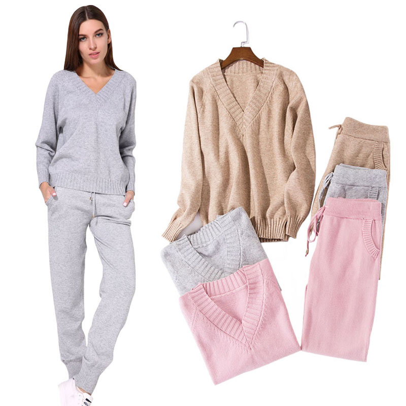 Detail Feedback Questions About Tracksuit Women Sweater Sets 2018