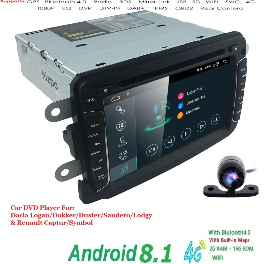 Android8.1 QuadCore System 7inch Car DVD Player for Renault Dokker Dacia Duster Logan Sandero with Autoradio GPS NavigationRadioAndroid8.1 QuadCore System 7inch Car DVD Player for Renault Dokker Dacia Duster Logan Sandero with Autoradio GPS NavigationRadio
