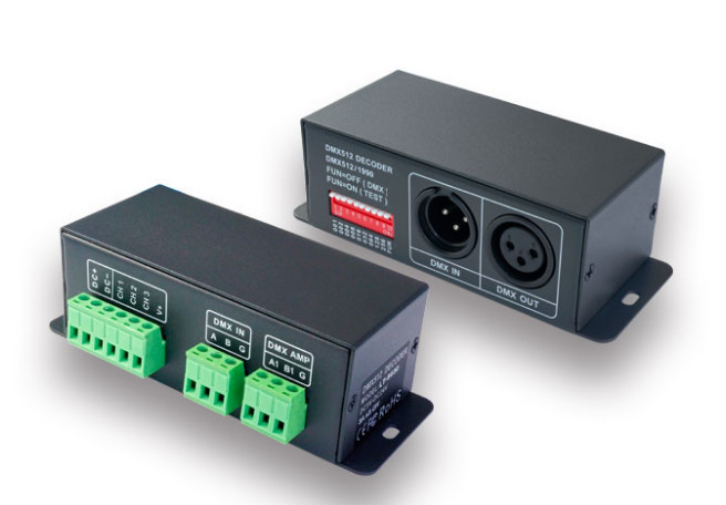 цена на LT-8048 3CH CV DMX512 Led Decoder DC12-48V input 4A*3CH output for Single Color/bi-color/RGB LED  Lamp Strip
