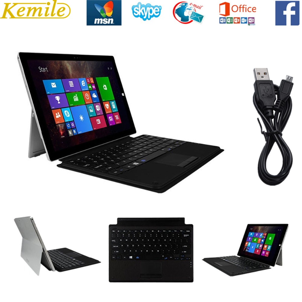 For Microsoft Surface Pro 4 / Pro 3 Keyboard Exclusive Design SURFACE Keyboard Enhanced Ultra-Slim Wireless Bluetooth Keyboard