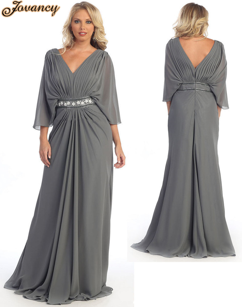 2015 formal long plus size women party dress 3 4 sleeve for 3 4 sleeve wedding guest dress