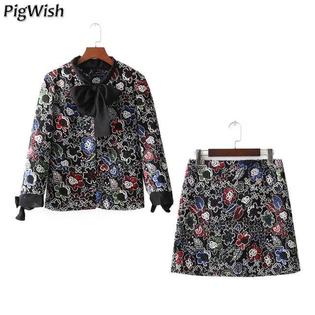 90ea147675 2018 Mulheres Jaqueta Moda Colorido Floral Bordado Outono Ternos Casaco  Blazer Feminino Do Vintage