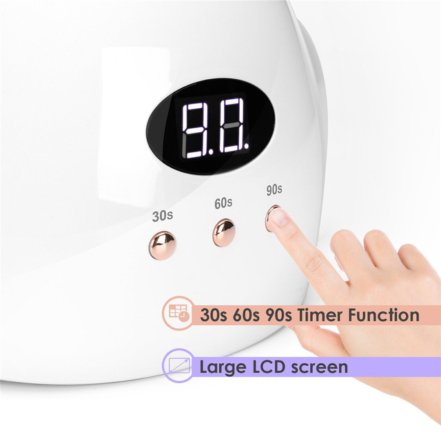UV LED Nail Glue Curing Light 24W UV Nail Paint 12 LED Gel Paint Varnish Art Tool Nail Polish Gel Polish Oil 5