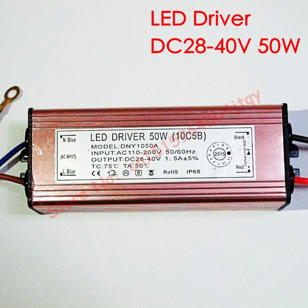 50w Led Power Supply: Aliexpress.com : Buy High Quality LED Driver DC28 40V 50W