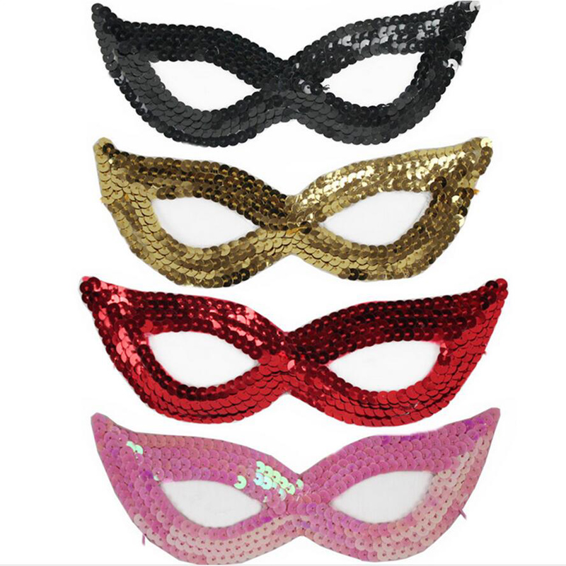 hot 7 colors half face glittering sexy women girl lady eye face mask masquerade party prom