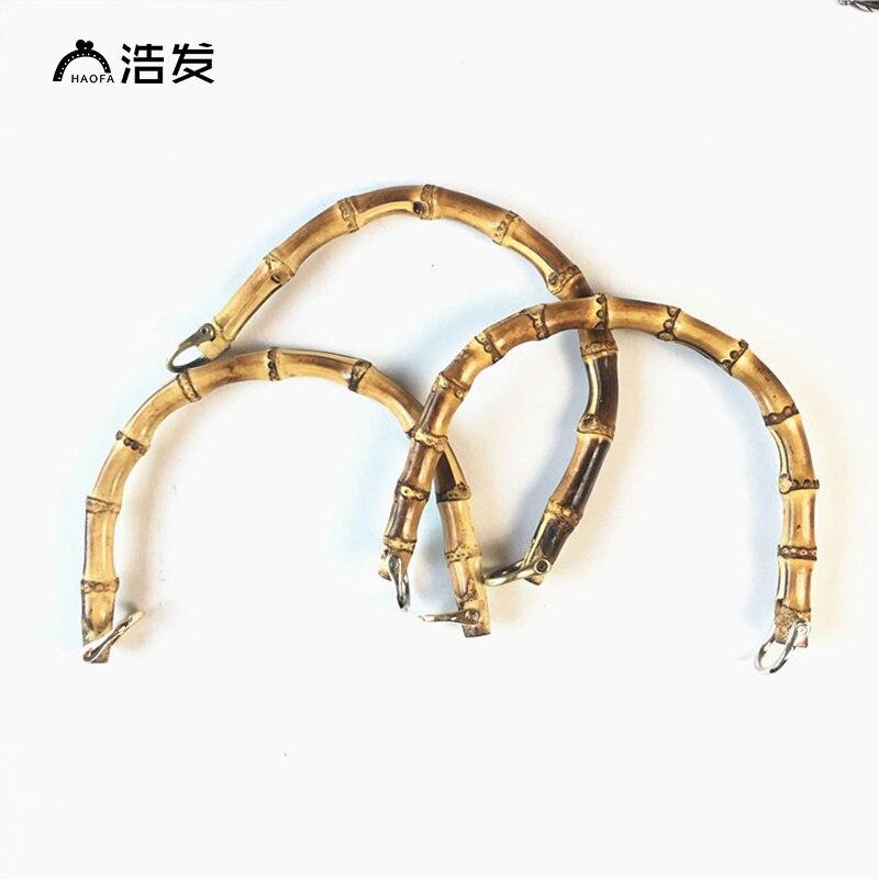 HAOFA Free Shipping Bamboo Bag Handle Fashion Purse Frame Replacement Handle for DIY Handbag Accessories
