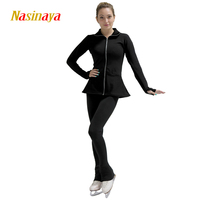 3 Colors Customized Clothes Ice Skating Figure Skating Suit Jacket And Pants Rolling Skater Warm Fleece