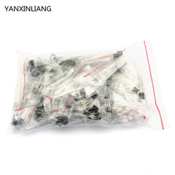 S9012 S9013 S9014 A1015 C1815 S8050 S8550 2N3904 2N3906 A42 A92 A733,17valuesX5pcs=85pcs,Transistor Assorted Kit image