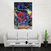 Nice Spider Man MarvelPoster Custom Canvas Poster Art Home Decoration Cloth Fabric Wall Poster Print Silk Fabric Print