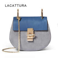 LACATTURA Hot Sale Famous Brand Design Women Handbag High Quality Genuine Cowhide Leather Cloe Bag Small Chain Shoulder Bag