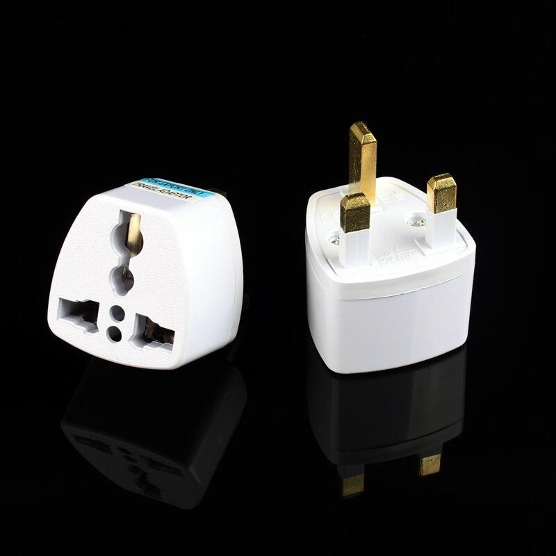 3 Pin AC Power Plug Adaptor Connector Travel Power Plug Adapter EU EURO AU US to UK Adaptor Converter Universal