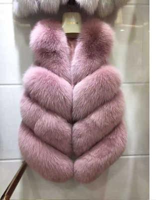 フェイクキツネの毛皮のベスト 2019 ファッションスリムノースリーブ冬のジャケット女性人工毛皮コート casaco feminino 高品質毛皮