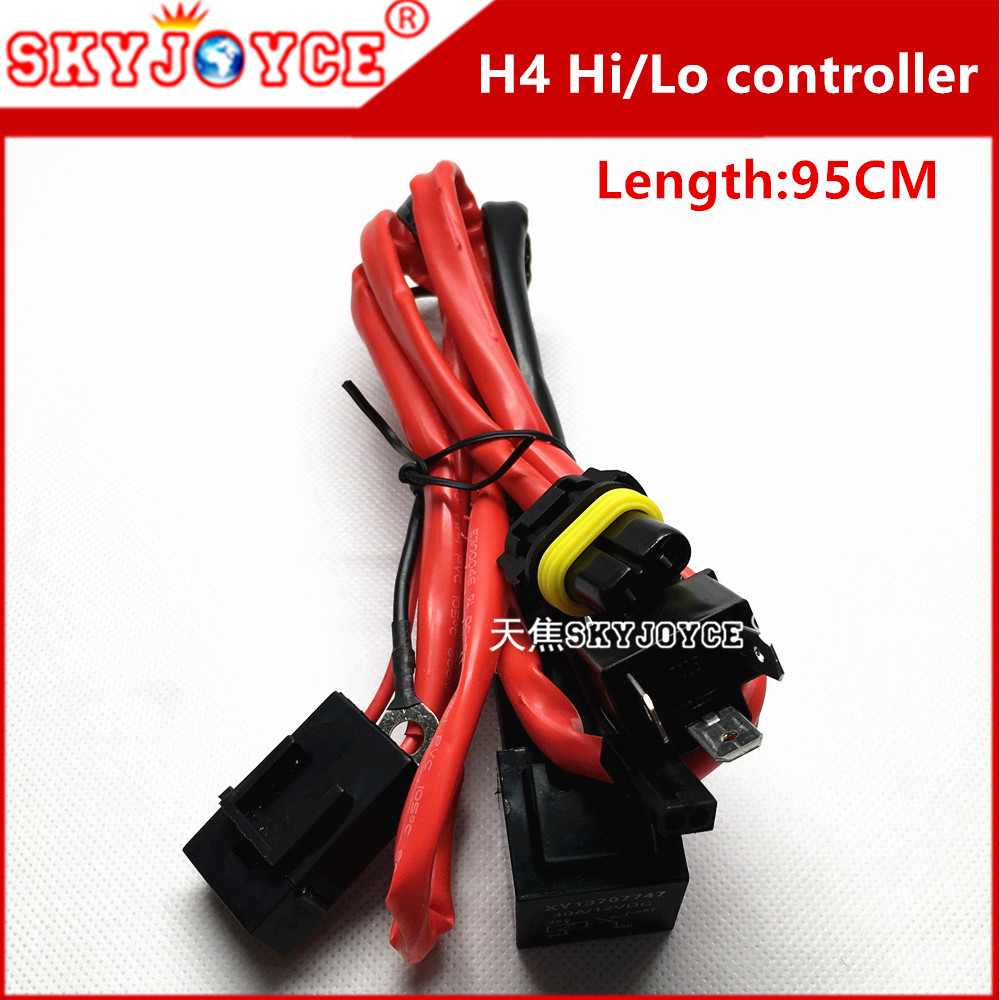 10x Long H4 Hi Lo Control Cable Xenon Hid Conversion Relay
