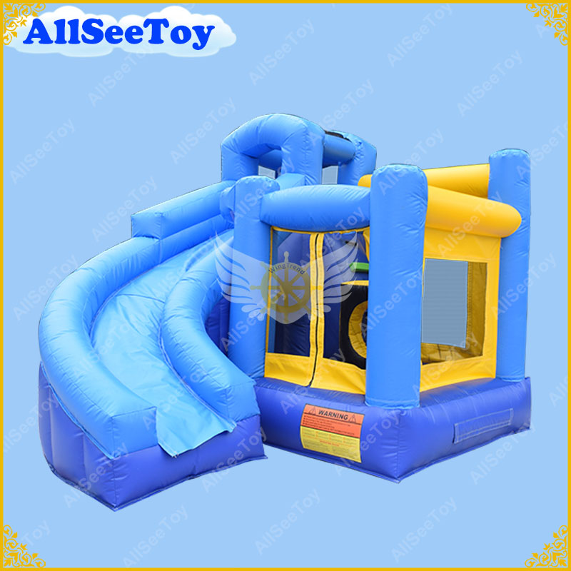 Good Quality Blue Inflatable Bounce House Slide Comb, PVC