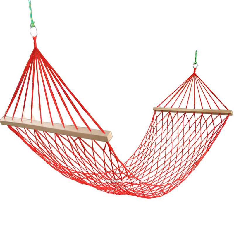 Thicken Cotton Hammock with Anti-rollover Wooden Stick and Storage Bag Durable Outdoor Hammocks Sleeping Bed for Hunting CampingThicken Cotton Hammock with Anti-rollover Wooden Stick and Storage Bag Durable Outdoor Hammocks Sleeping Bed for Hunting Camping