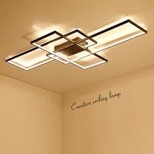 NEO Gleam Rectangle Aluminum Modern Led ceiling lights for living room bedroom AC85-265V White/Black Ceiling Lamp Fixtures недорого
