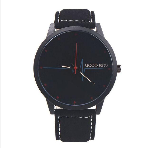 2016 Simple student fashion belt big men and women retro quartz watch personalit