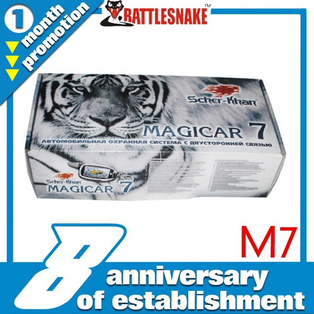 Free shipping Russian version MAGICAR SCHER-KHAN  2 way magicar car alarm system Magicar M7