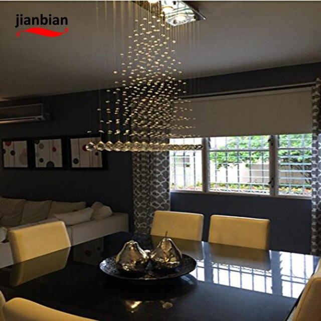 Moderne kristal regen led hanglamp voor badkamer woonkamer en ...