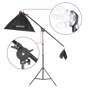 Image 3 - Andoer набор для фотостудии 12 Светодиодный 45 Вт, светильник для фотосъемки, комплект для фотосъемки, аксессуары для камеры и фотографии, 3 светильник, подставка, 3 софтбокса для фотосъемки
