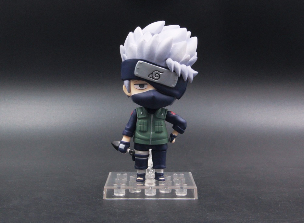 10cm Naruto Shippuden Hatake Kakashi Nendoroid 724# Anime Action Figure PVC toys Collection figures for friends gifts 19