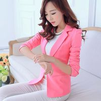 Soft Spring Autumn Women Slim Blazers Solid Color Ladies Office Work Suit Female Coat Outwear Famale
