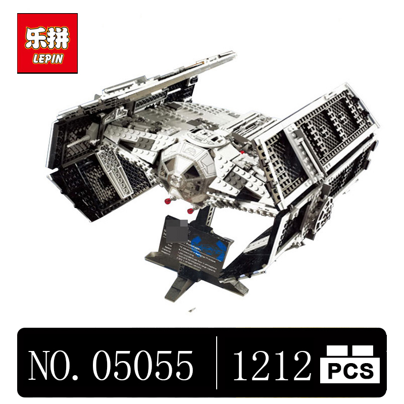 DHL Lepin 05055 1212Pcs Star Series Wars The Rogue One USC Vader TIE Advanced Fighter Set 10175 Building Blocks Bricks lepin 05055 star 1212pcs the rogue one usc vader tie advanced fighter set 10175 building blocks bricks educational war