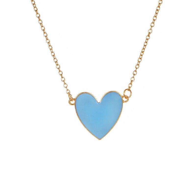 Модное ожерелье с подвеской для глаз для женщин, ожерелье с кристаллами, сексуальные персонализированные чокеры, короткая цепочка на ключицы, ювелирные изделия - Окраска металла: resin heart blue