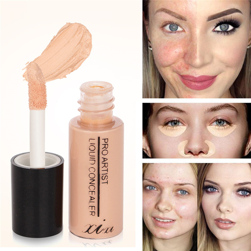 Full Cover Liquid Concealer Makeup Eye Dark Circles Cream Face Corrector Waterproof Make Up Base Foundation Cosmetic image