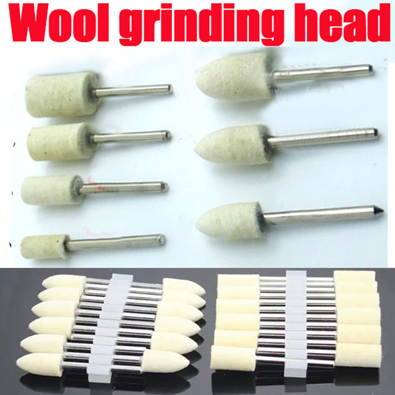 12x Round Felt Wool Buffing Polishing Wheel Deburring Grinding Abrasives Dremel Tools Accessories Rotary Tool Wool For Felting