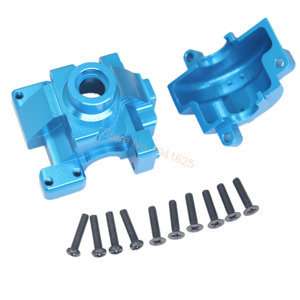 RC HSP 122075 Aluminum Gear Box with Screw 02051 Transmission Set 1:10th Upgrade Parts Fit Himoto Redcat Racing 82910 ricambi x hsp 1 16 282072 alum body post hold himoto 1 16 scale models upgrade parts rc remote control car accessories