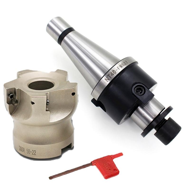 New 1set NT40 FMB22 45L Toolholder/NT30 FMB22 45L + BAP300R 50-22-5T Face End Mill For CNC Machine Lathe Milling