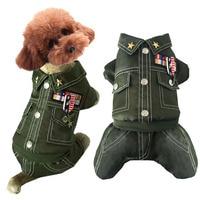 USA army Dog cat Pet bông Áo Khoác độn Coat dog puppy snowsuit quần áo trượt tuyết Chihuahua Mùa Đông ấm fleece con chó nhỏ quần áo