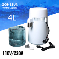 4L Portable Stainless Steel Water Distiller Pure Water Filter Purifier Water Purifier Water Distiller Filter Treatment