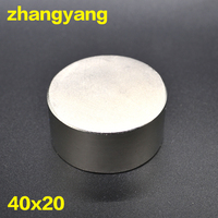 Free Shipping 1PC Hot Magnet 40x20 Mm N38 Round Strong Magnets Powerful Neodymium Magnet 40x20mm Magnetic