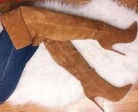 Mestiere di fabbrica prezzo competitivo scarpe sopra il ginocchio alti stivali moda punta a punta stivali alti stivaletti donne sexy scarpe all'ingrosso