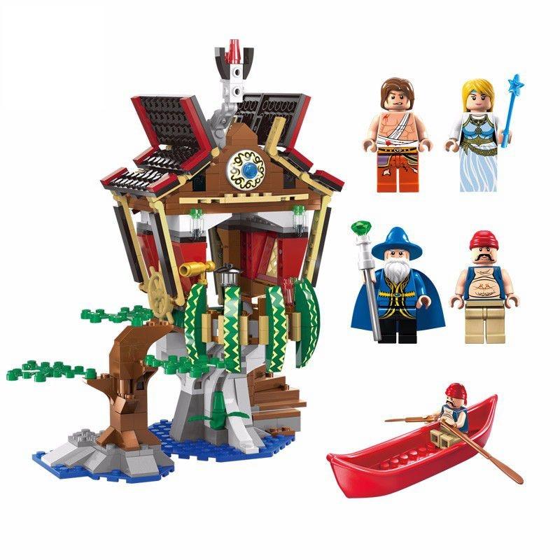 Enlighten Sorcerer Hut Giocattoli Castle Building Blocks Brinquedos Menino Educational Toys For Children Compatible Lepin Friend