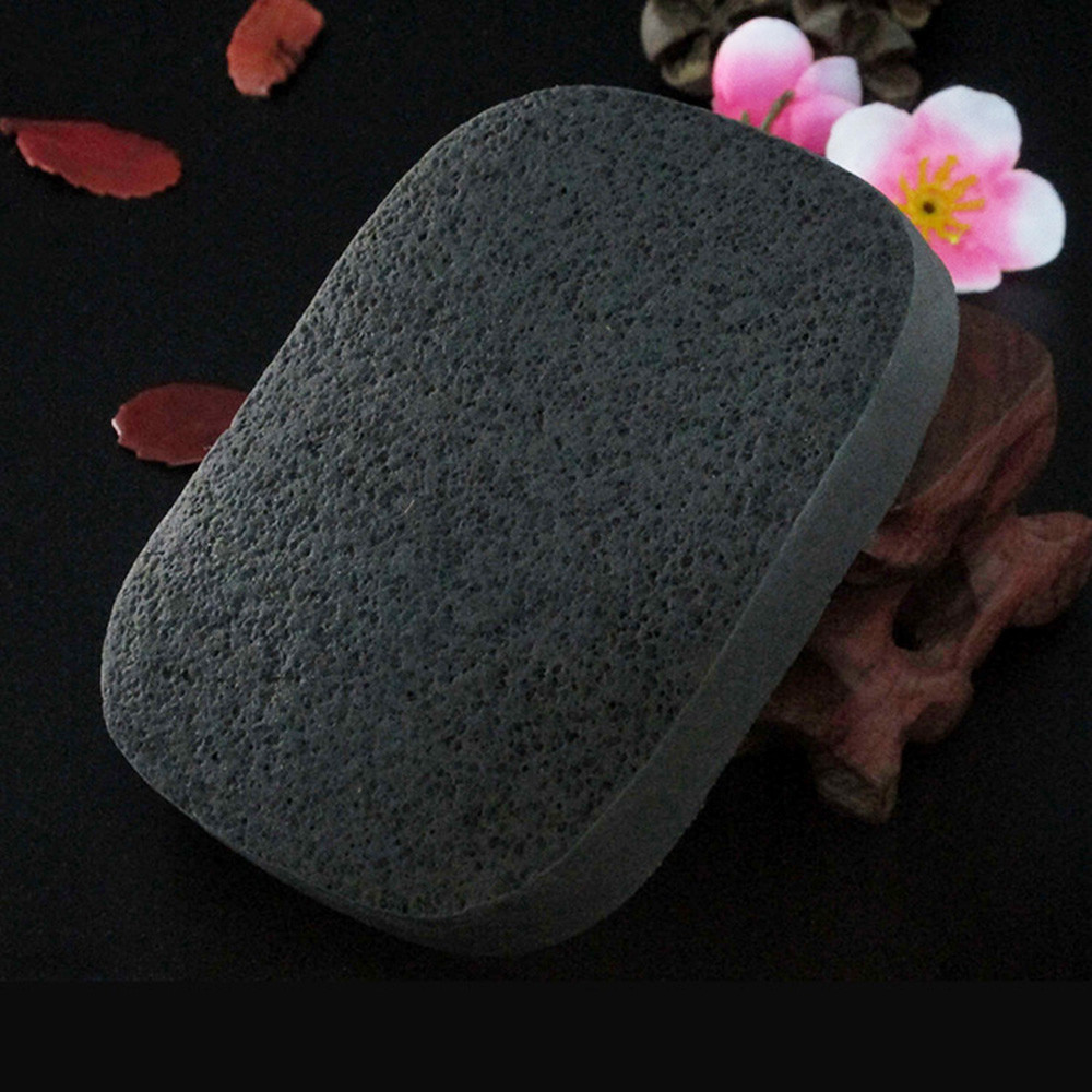 Natural Black Bamboo Charcoal Face Clean Sponge Wood Fiber Face Wash Clean Sponge Beauty Makeup Accessory Cleaning Puff TSLM1