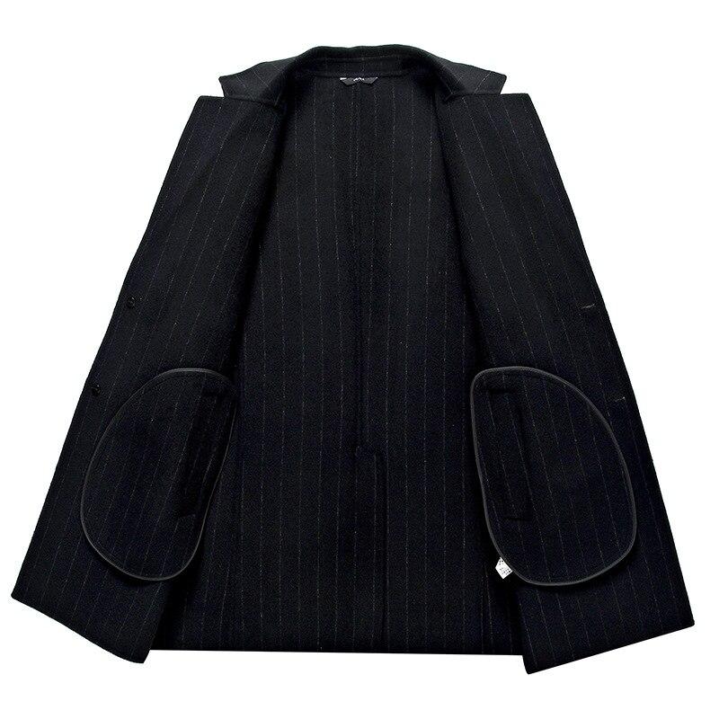 2xl Laine Hommes Main Épais À Double Faits Coupe Style Black En vent Automne 70Taille Hiver De La Rayé Cachemire M Manteau Pardessus Casual Nouveau Ee2YH9WID
