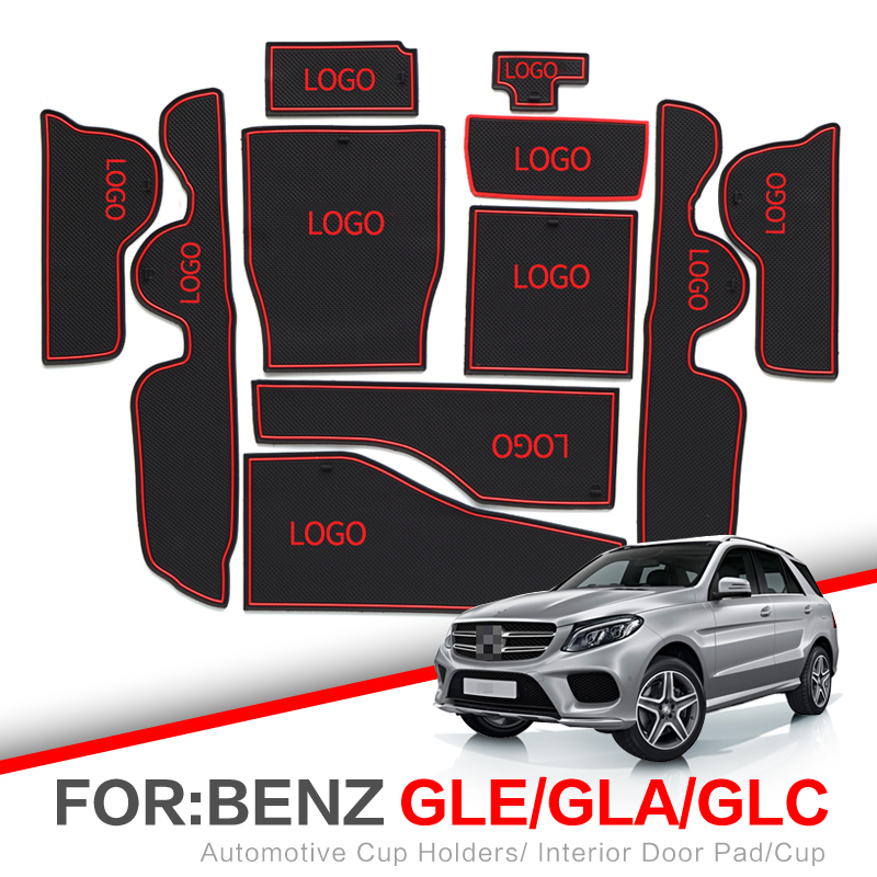 ZUNDUO Gate Slot Pad  For Mercedes Benz GLE GLA GLC 2011 - 2019 X156 X253 W166 Interior Door Pad Car Cup Holders Non-slip Mats